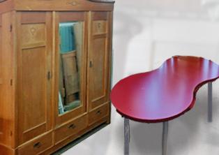 Möbel in reicher Auswahl, antik und modern